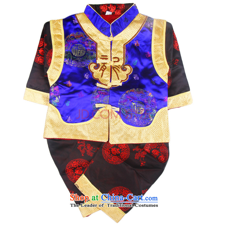 The new Child Tang dynasty new year-old baby dress hundreds services amanome services and small and medium-sized girls festival will light blue 80