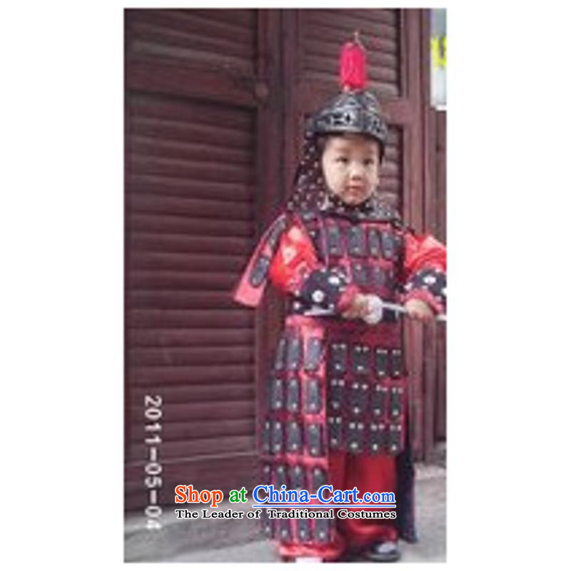 Children Warrior Cosplay Show Costume Clothing Clothes