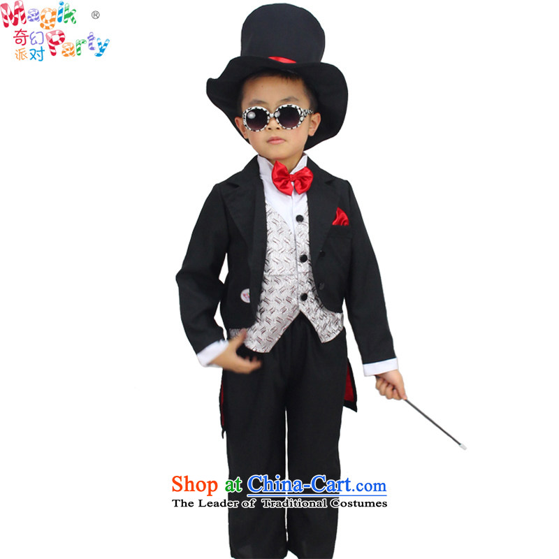 Fantasy Halloween costume party Boys School will dress birthday gift masquerade small magician costumes magician105cm3-4 small code
