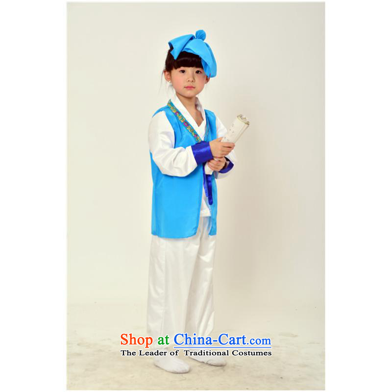 2015 Children Dance will serve the ancient Han-Shu Lang book' new hot Dark Blue 140cm