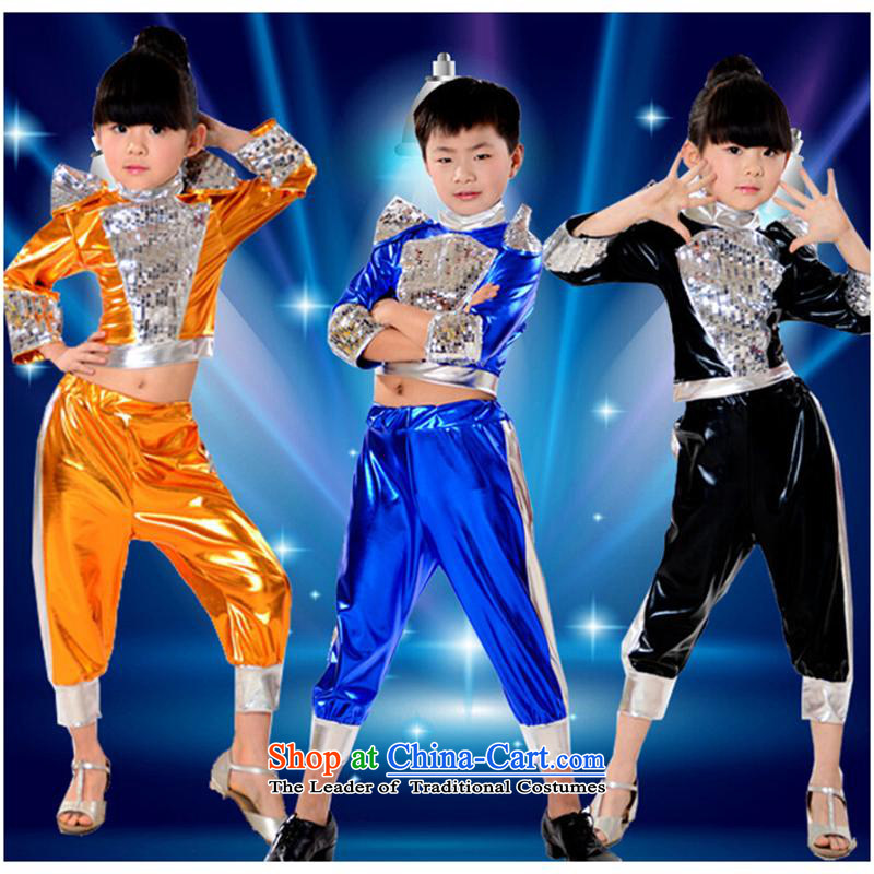 61. Children will show girls of early childhood services jazz dance costumes jazz dance will children Blue110cm,