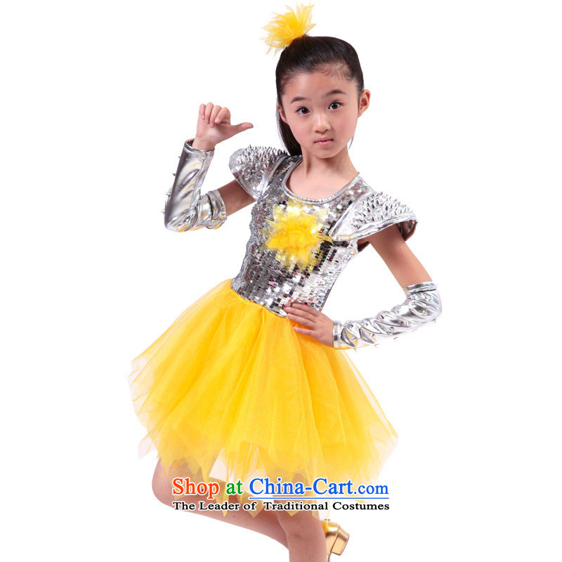 2015 new products 61 children will come on the girl child, jazz dance services early childhood modern dance costumes and yellow 120