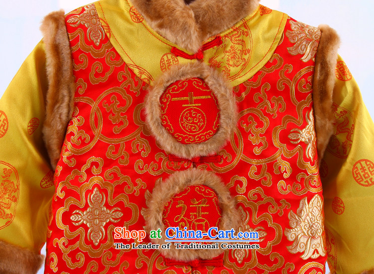 Tang Dynasty boy children for winter baby New Year Kit baby clothes thick cotton goodies winter 2-3-4-5 years red 110 pictures, prices, brand platters! The elections are supplied in the national character of distribution, so action, buy now enjoy more preferential! As soon as possible.