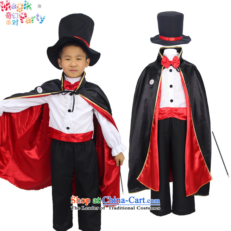 Fantasy Halloween costume party boy kindergarten performance apparel birthday party clothing child photography services magician costumes magician聽145cm11-12 code