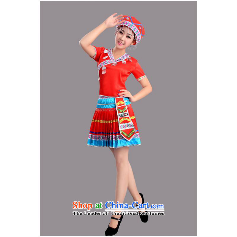 2015 New Hmong minority will serve dance Tujia dance performances of the Yi-Mounting Skirt Services Red S