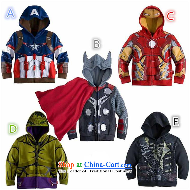 2015 Autumn and winter new children's wear Korean version of small and medium-sized boy cartoon lovely Superman jacket baby leisure jacket N001 Dark Gray 100cm-140cm/1 five hand closely involved (rvie.) , , , shopping on the Internet