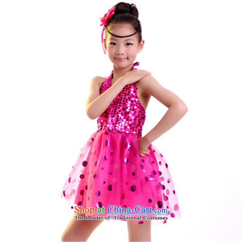 Celebrate children's day nurseries on film costumes dance dress princess skirt bon bon skirt girls show will be red 160 Xia