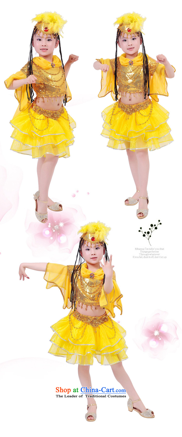 The new girls children dance wearing less d-Xinjiang show young children to Xinjiang will national costumes Yellow 140cm photo, prices, brand platters! The elections are supplied in the national character of distribution, so action, buy now enjoy more preferential! As soon as possible.