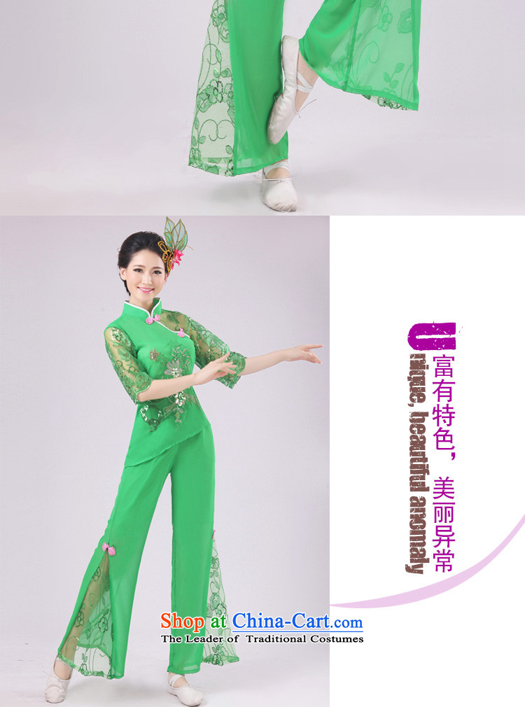 New modern dance services yangko serving classic dance folk dance will fan dance green pictures, prices, XXXXL brand platters! The elections are supplied in the national character of distribution, so action, buy now enjoy more preferential! As soon as possible.