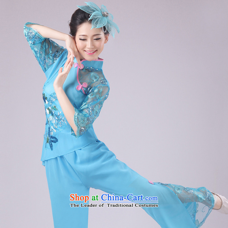 New modern dance services yangko serving classic dance folk dance performances Fan Dance XXXXL, green crown monkeys services , , , shopping on the Internet