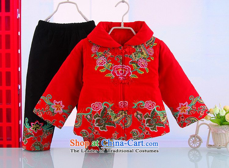 Tang Dynasty Children baby girl Tang Dynasty Tang dynasty winter coat warm winter thick Tang dynasty suit red 100 pictures, prices, brand platters! The elections are supplied in the national character of distribution, so action, buy now enjoy more preferential! As soon as possible.