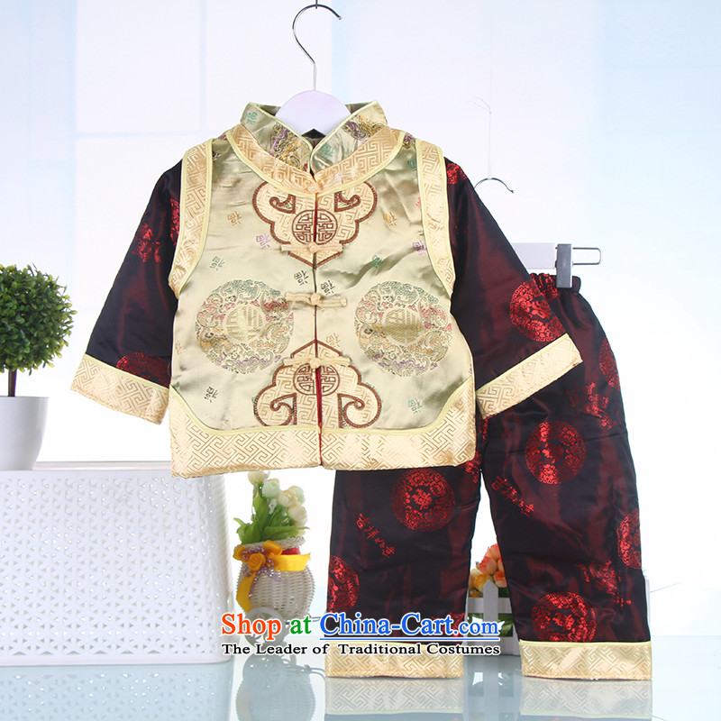 2015 WINTER boy children for winter costume infant age ãþòâ kit birthday baby Tang Dynasty New Year dress 75,800,000 Yellow80