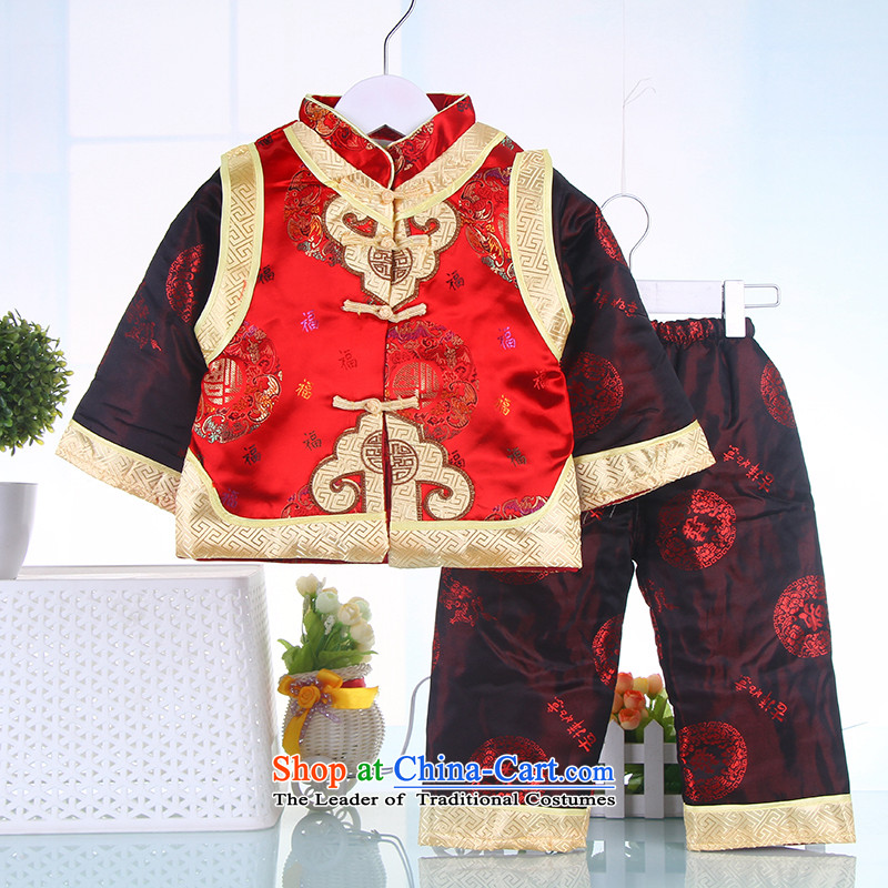 Winter boy children for winter costume infant age 茫镁貌芒 kit birthday baby dress Red聽90