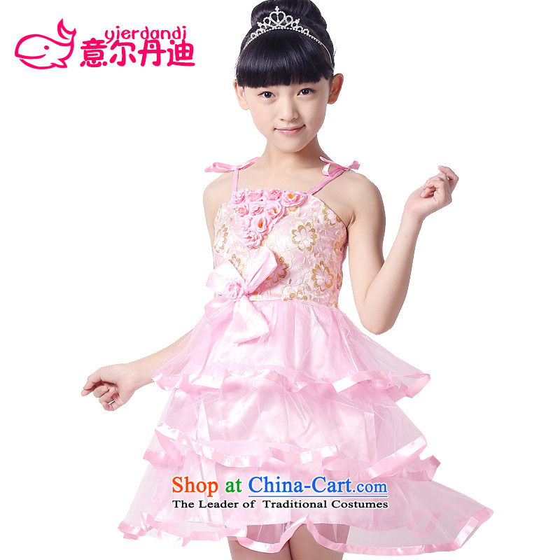 The new child costumes girls modern dance performances dress on childcare slice is less dance performances of early childhood services services princess skirt pink dresses 130