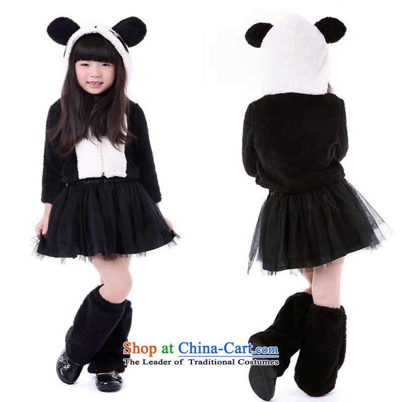 Children's apparel girl section of theatrical performances to #021 cute little panda Halloween cosplay services 61 Dance black are code