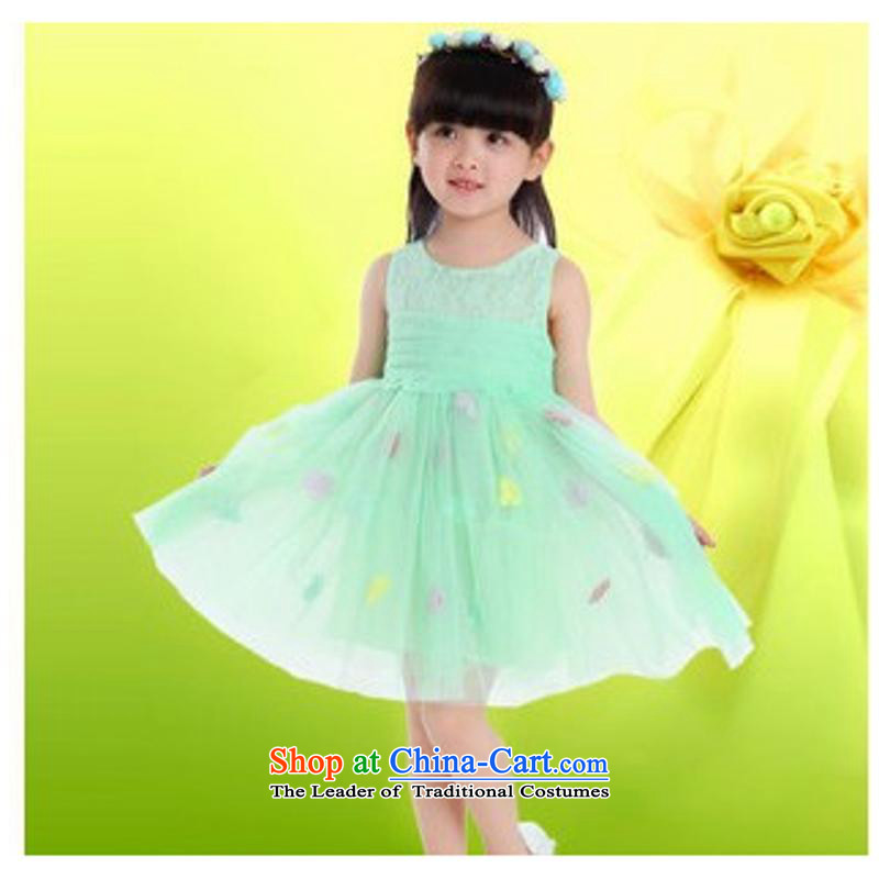 The new Child Princess dress show services early childhood modern dance skirt 61 girls bon bon skirt will light green 110cm,