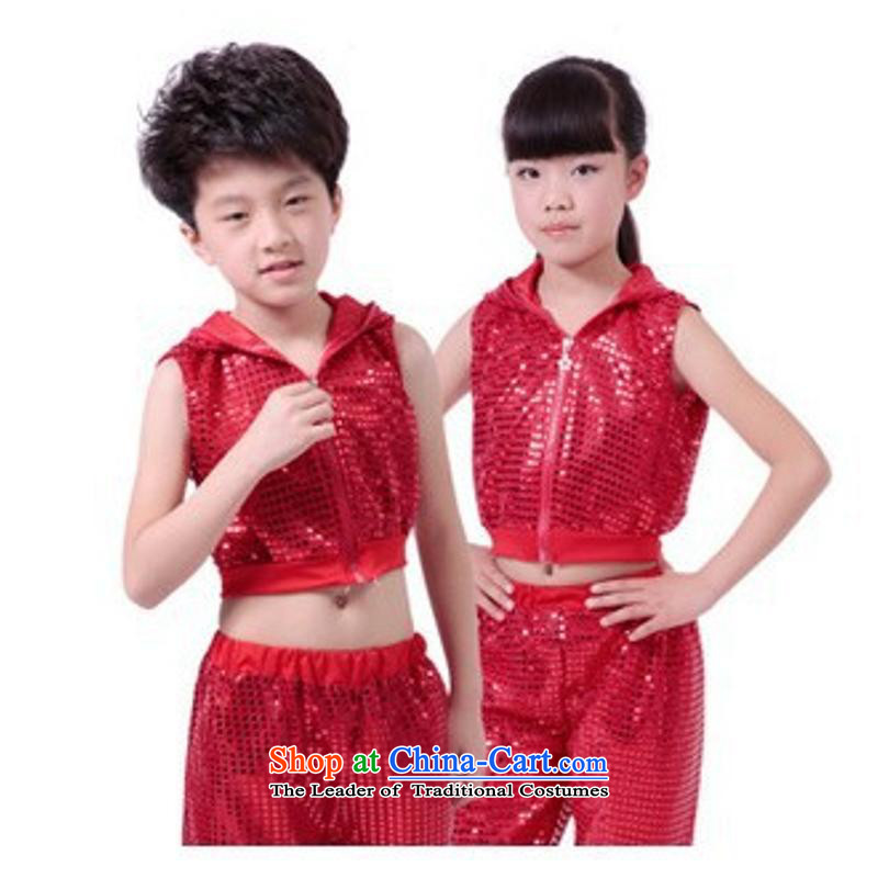 2015 New 61 children will highlight the slice is less-show apparel to boys and girls kit early childhood dance wearing red聽5.30