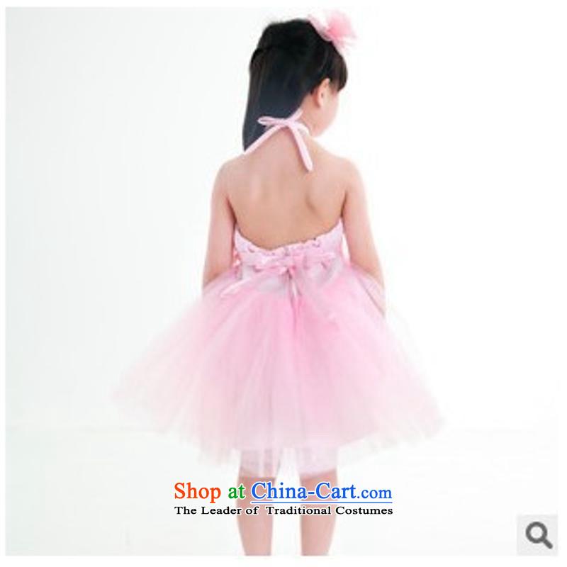 61. Children Dance costumes dance females skirt princess skirt bon bon skirt modern dance dress uniform pink120cm