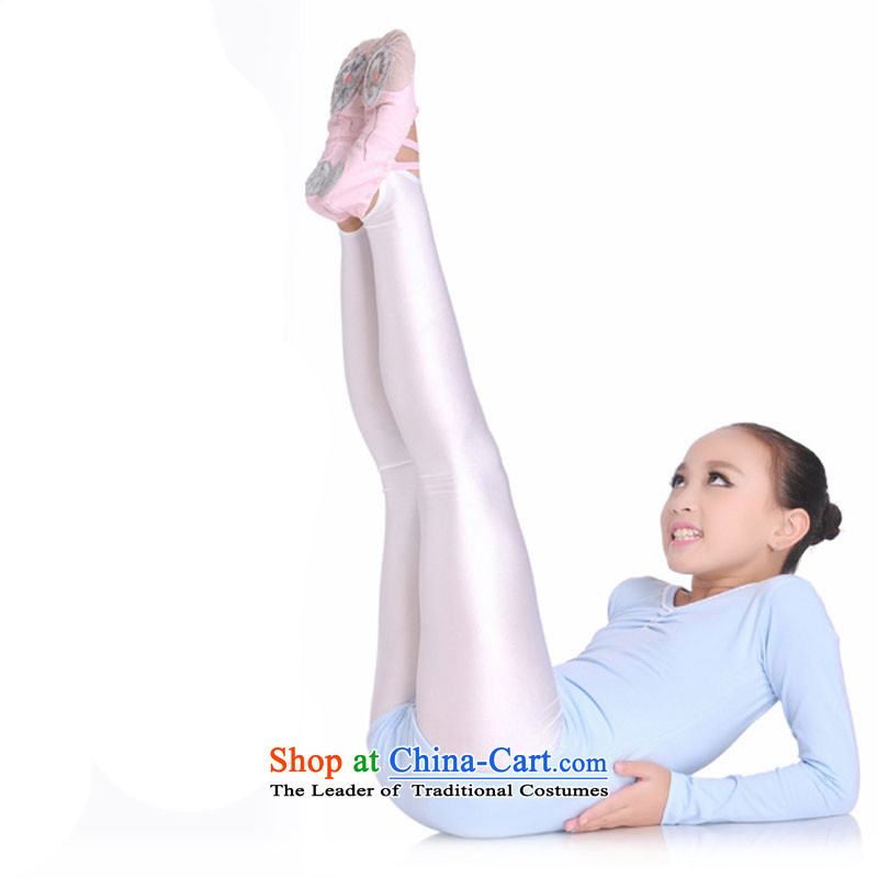 Children Dance socks practitioners trousers girls depress foot kicking foot Children Summer Trousers Press, 8360 autumn and winter ballet white socks spandex with light 150cm