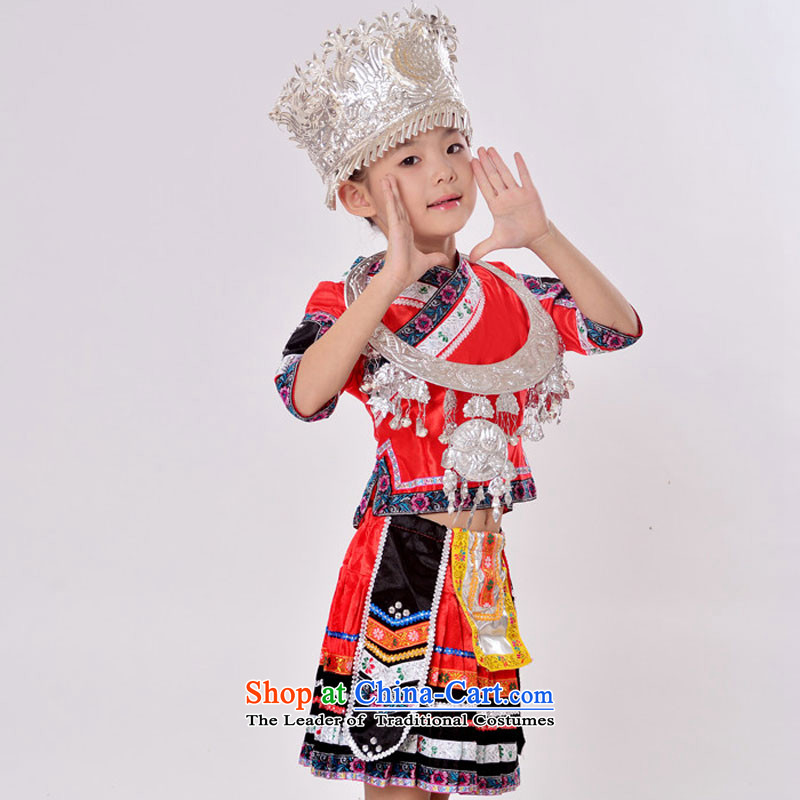 The girl children of the Hmong minority ethnic dances will dress uniform Yunnan Zhuang nationality costumes Xueping Kit Plus Emulator Red Version 5.30 and ornaments