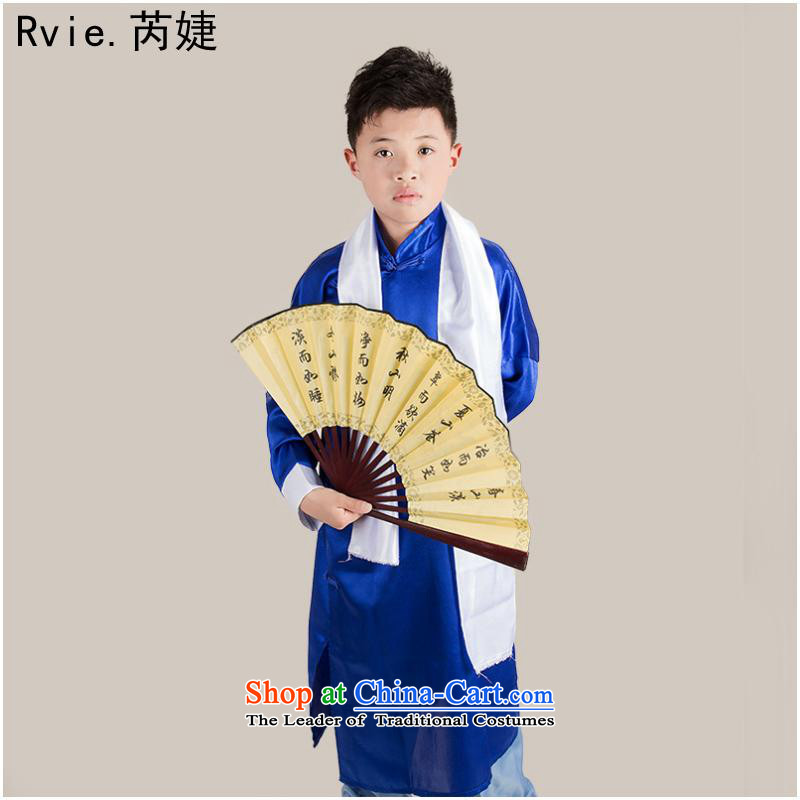 The Republic of Korea also large cheongsams children 1919 students robe services boy costume xiang sheng photo album stage performances of dark blue聽140cm
