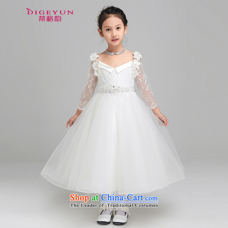 The following new paragraph 2015 autumn and winter, children dress princess skirt girls dress long-sleeved gown flower girl performances dress bon bon skirt single dress 150