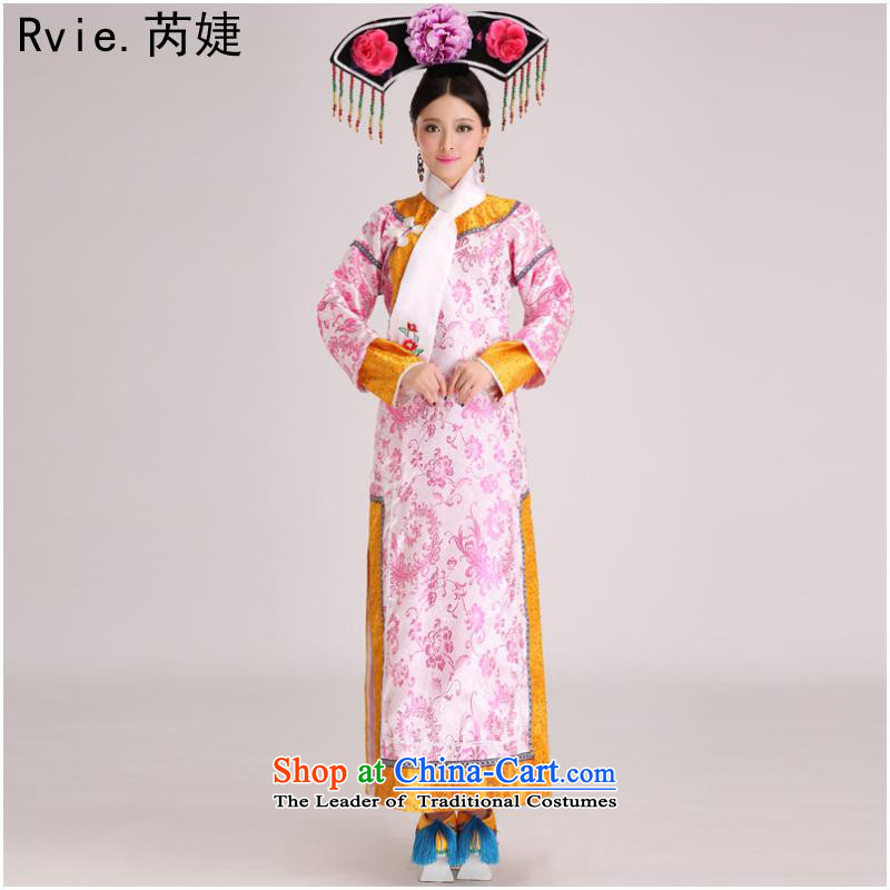 The Qing dynasty Empress Gwi-cos well jin small home-flag Manju maids serve clothes performances showing the Stage Costume blue, and involved are code (rvie.) , , , shopping on the Internet