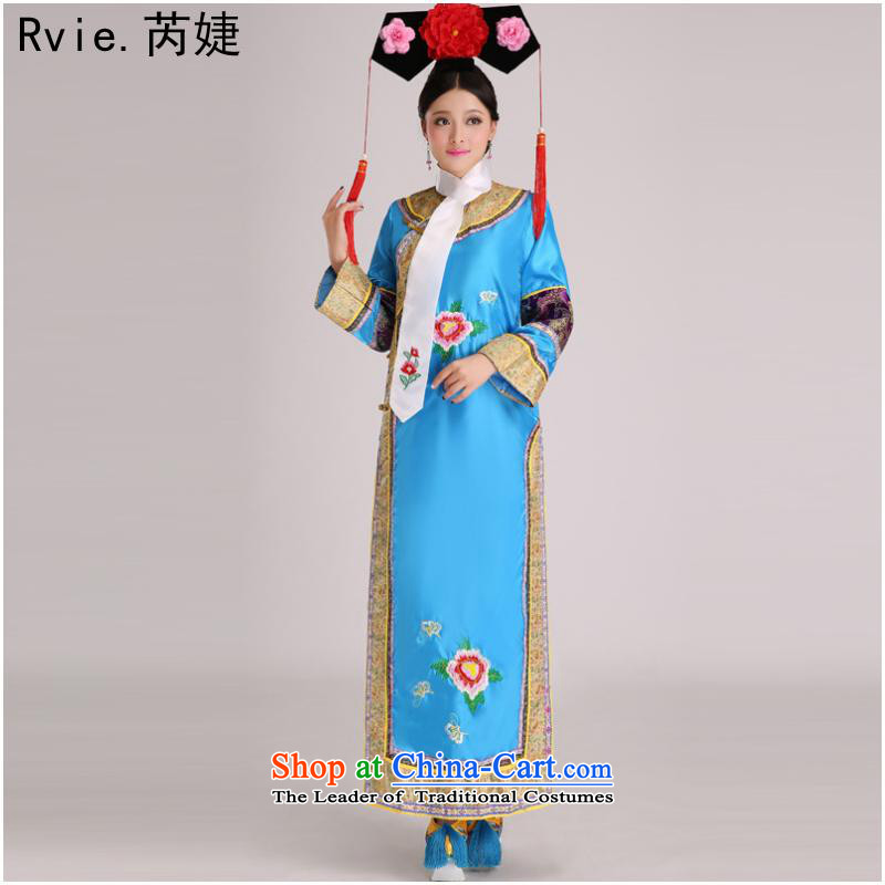 The Qing dynasty costume Queen Inhyeon sub-jin Gwi-small home Manju flag with civilian clothes show up Stage Costume purple code, with per capita, , , , shopping on the Internet