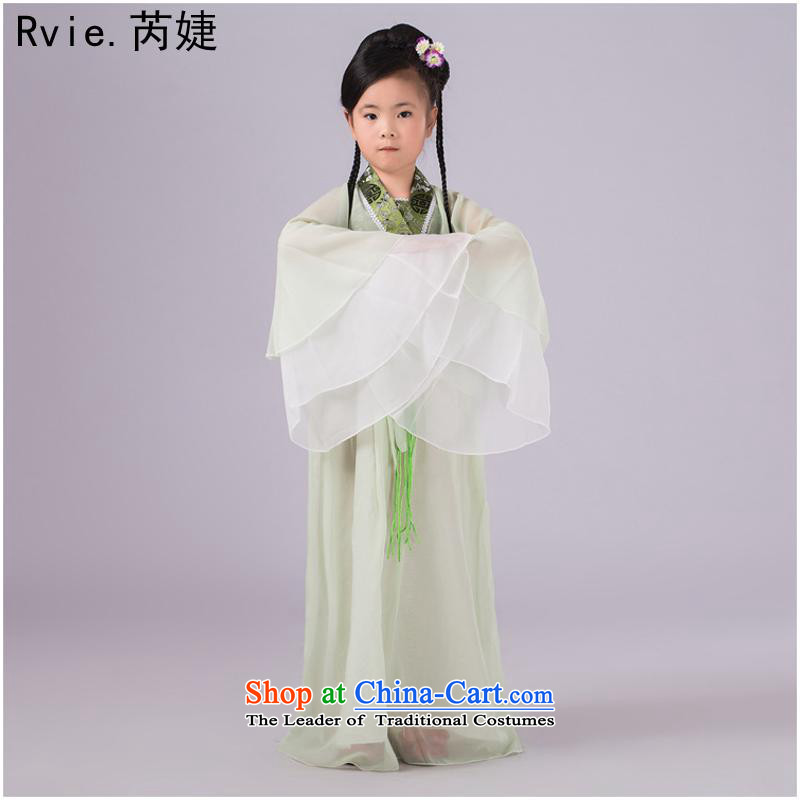 Children will girls fairies replacing chiffon colored photography more than skirt clothing costume guzheng stage performances services green140-150XXL