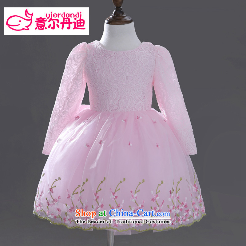 Intended for dandi flower girl children dress skirt autumn dress girls long-sleeved princess skirt bon bon skirt children's wear dresses wedding dress pink聽140