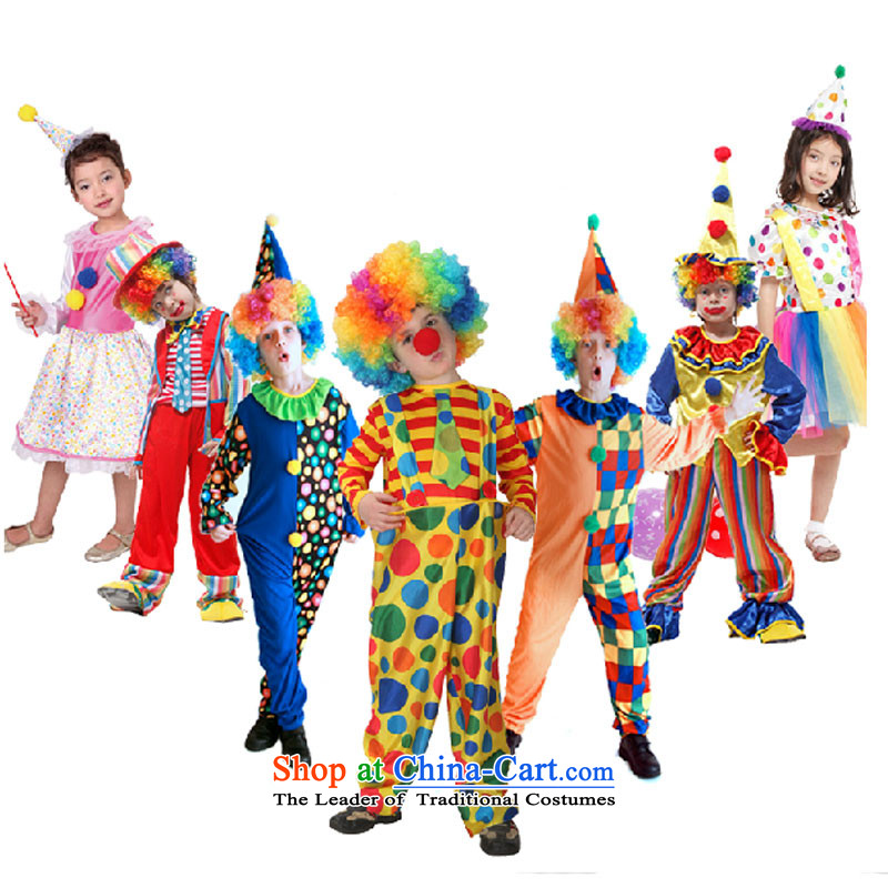 Child Care Services as clown Halloween children motley girls birthday party service funny clown costume geek 130 to 140