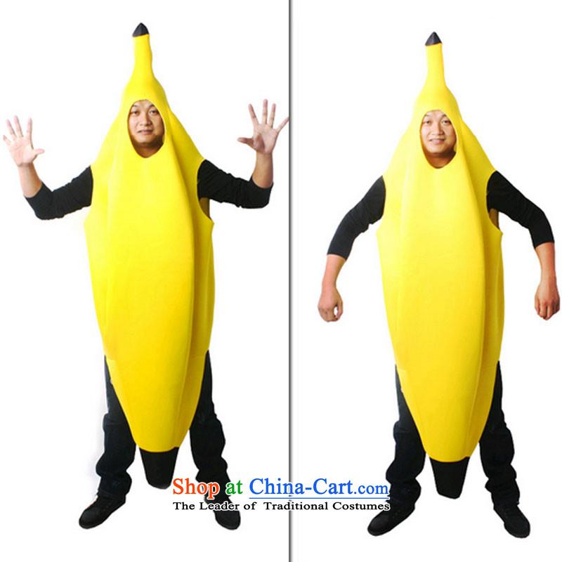 Halloween costumes children geek clothing masquerade clothing banana serving fruit clothing Yellow130cm to 140CM
