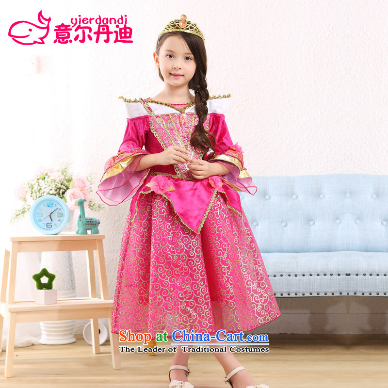Halloween children's clothing girls of snow and ice princess skirt Cinderella tale dance performance by the service in the red 150 birthday dress