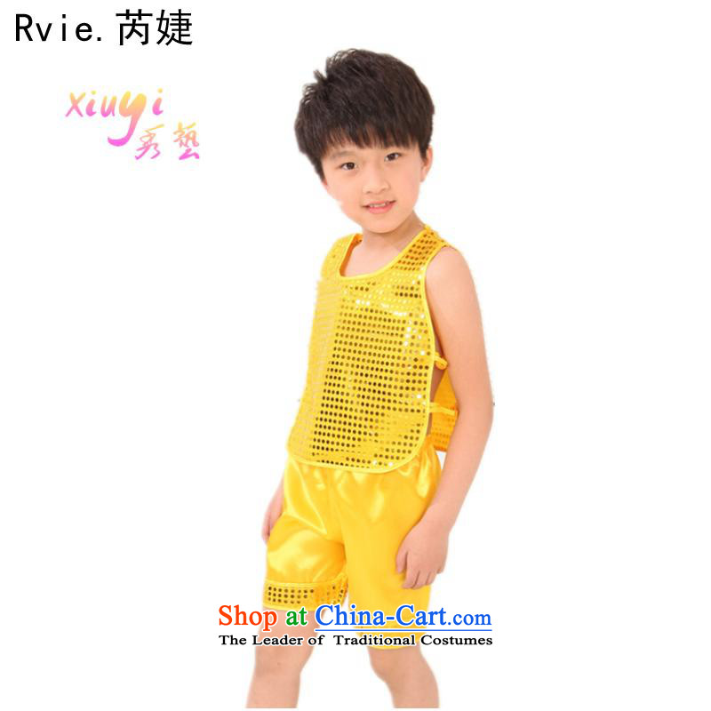 Celebrate children's day kindergarten pupils dance services costumes boy kit exercise clothing kung fu kit green?140cm