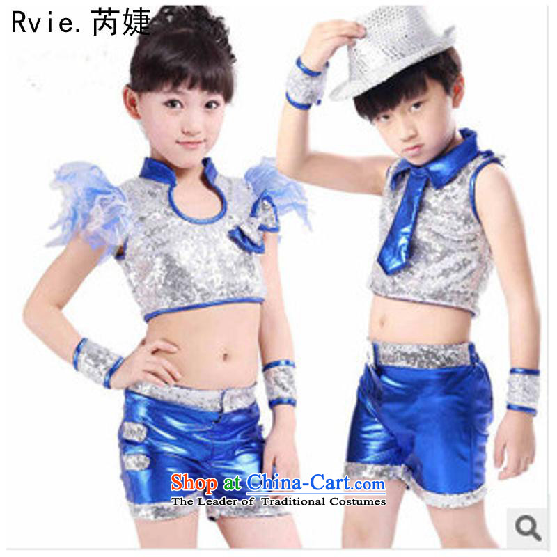 61 New Child jazz dance to boys and girls on film costumes dance modern stage children's services package includes a 110cm, Female