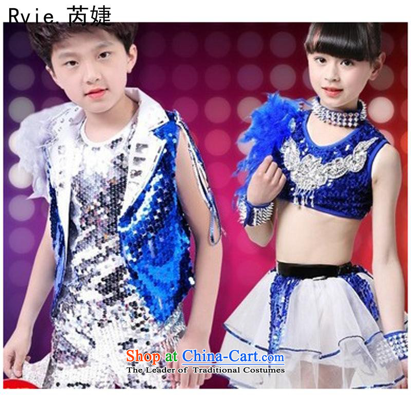 61. Children will boy of modern jazz dance package on the girl child care services dress that show that women Yellow 160cm