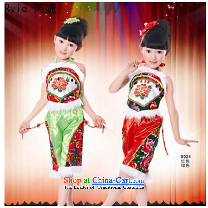 61. Children Dance Performance by the kindergarten pupils skirt costumes sheikhs janggu yangko Maomao publicity related sets of Green5.30