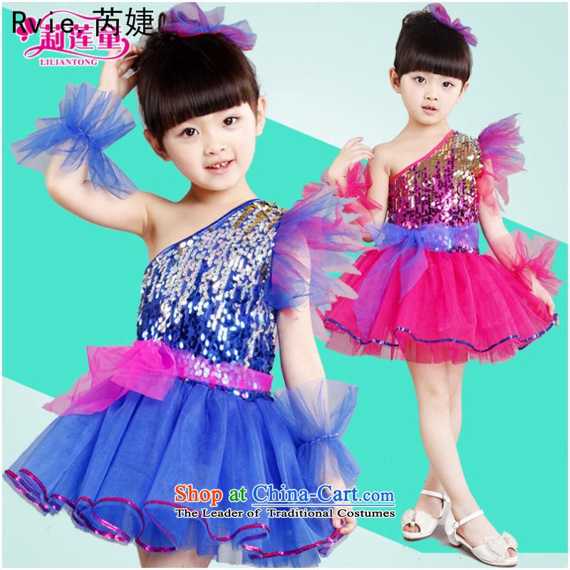 61. Children will the new girls on chip dress kindergarten princess skirt moderator stage services bon bon skirt the red130cm