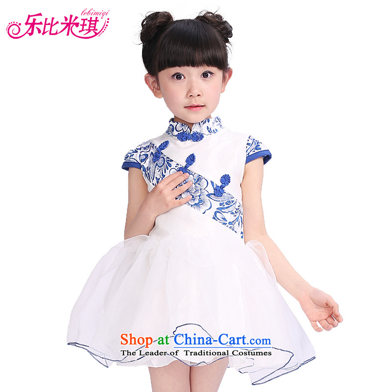 Children Dance services fall and winter girls long-sleeved lace serving Latin Shao Er Latin Dance Dance Performances exercise clothing services serving the picture color,150