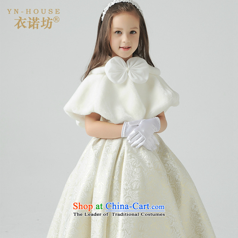 Flower Girls dress long skirt princess skirt girls wedding dress children will dress of children's wear dresses, square autumn and winter clothing new shawl Kit 130