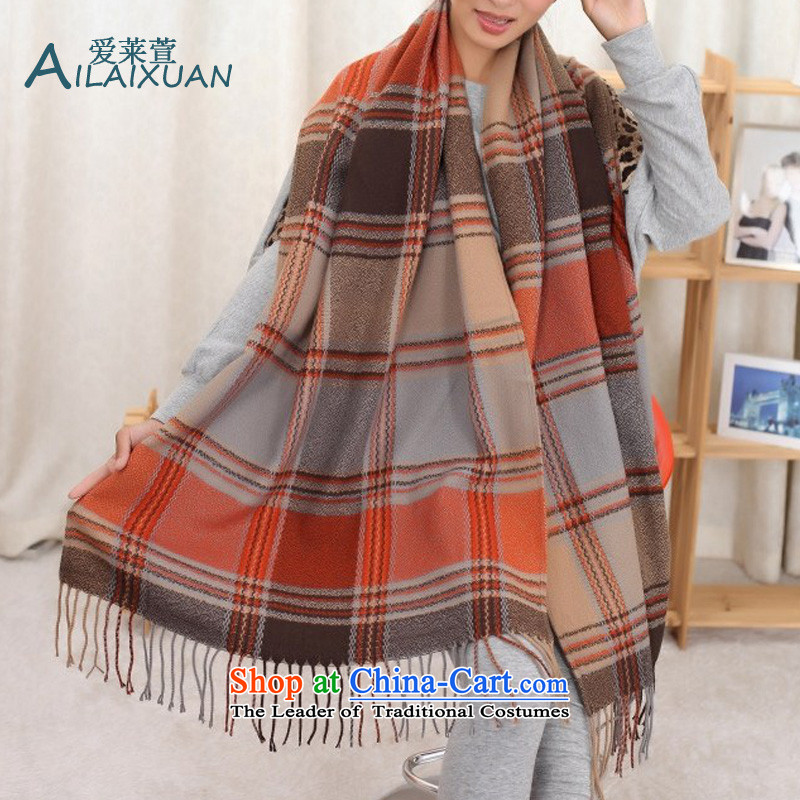 Love, Xuan New 2015 autumn and winter western style college sub-su pashmina shawl emulator and a color grid