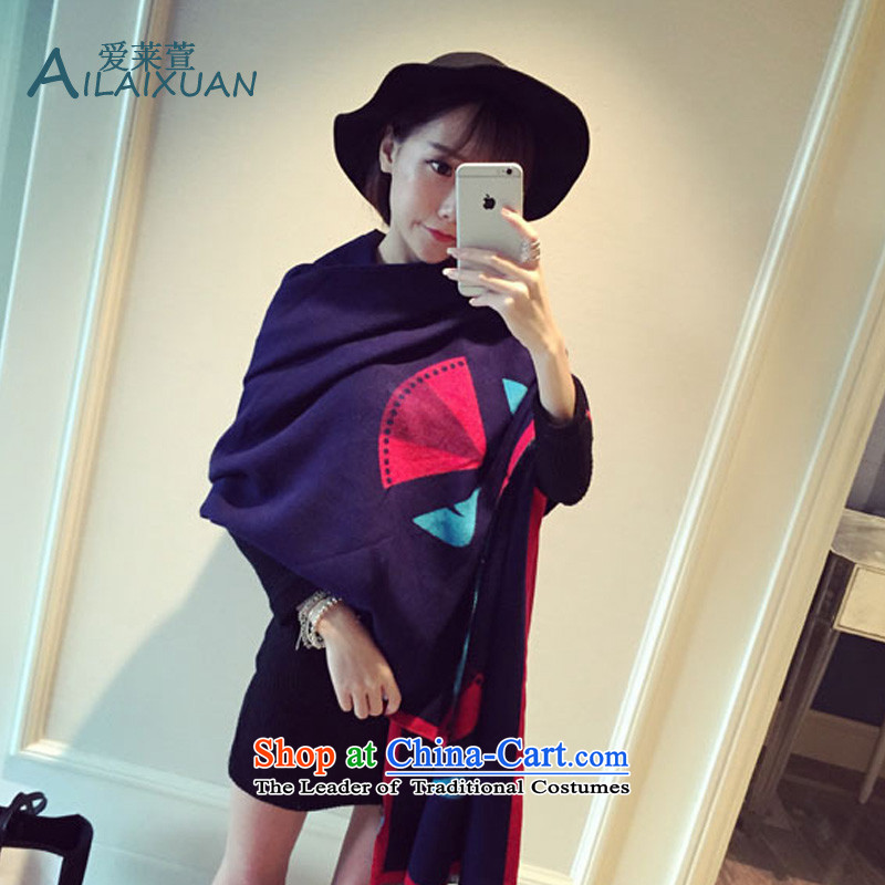 Love Gloria Xuan 2015 autumn and winter small monster demon duplex Cashmere scarf european sites long big large warm thick black shawl