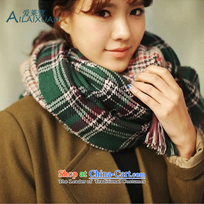 Love Gloria Xuan 2015 autumn and winter duplex grid new long warm emulation _pashmina shawl two couples with thick chidori of large scarf facade Miguel