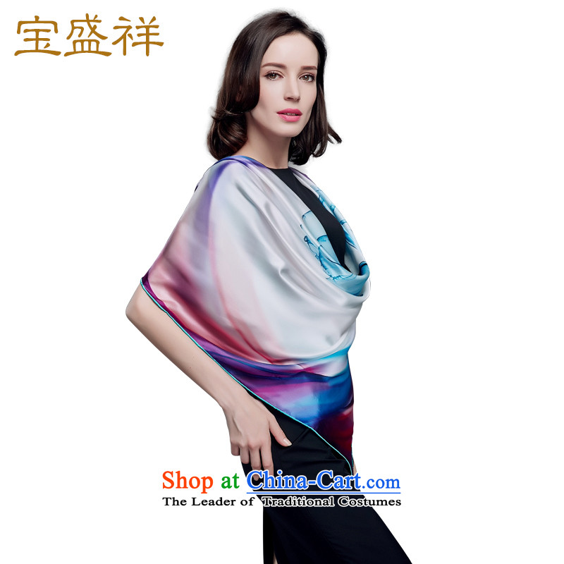 Eric Blossom Girl, new herbs extract silk and classy towel colorful Ms. stamp silk scarves Hyun s9214 blue