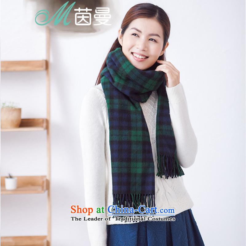 Athena Chu Cayman British wind Ms. retro plaid scarf of autumn and winter 2015 Women's shawl scarf two Korean version854140259 PreppyGreen