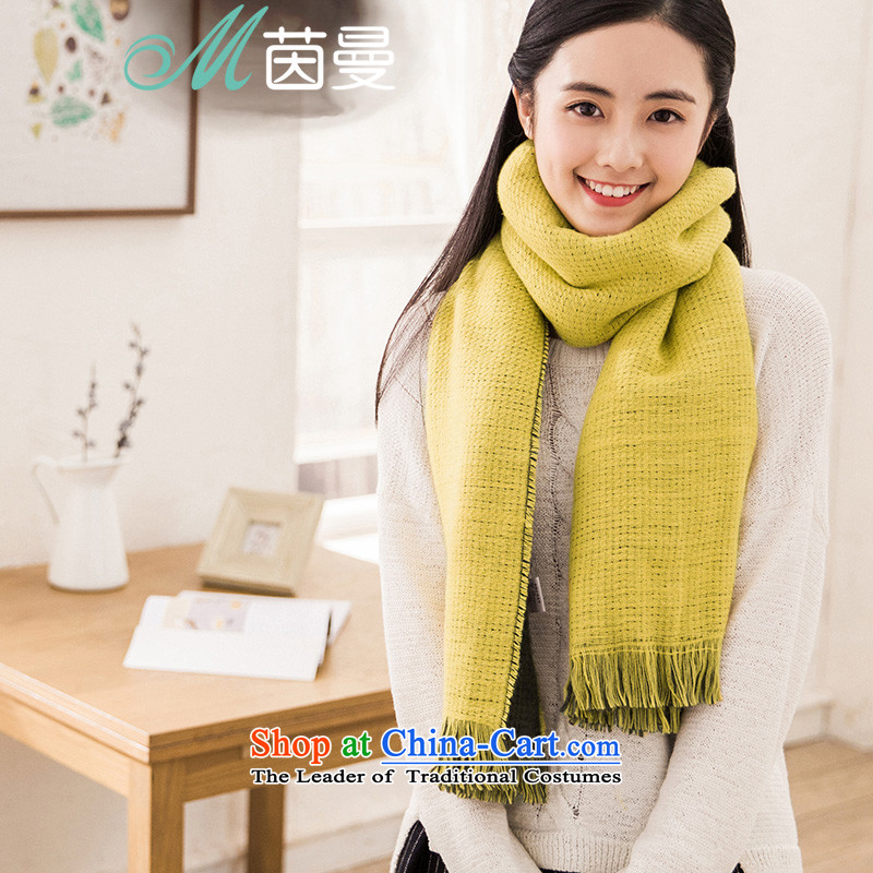 Athena Chu Cayman2015 arts spell the end of the scarf Ms. knocked color color Warm Big shawl dual-use of autumn and winter female 854140268 lemon yellow