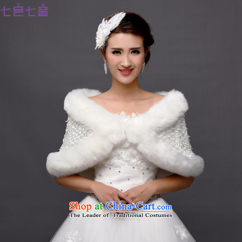 7 7 color tone2015 autumn and winter new wedding shawl marriages shawl bridesmaid sister skirt jacket grossPJ1501 shawlWhite
