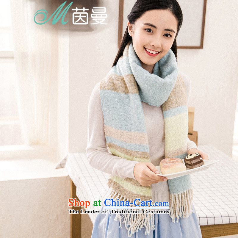 Athena Chu Cayman fresh streaks Ms. arts scarf warm-ups large shawl won two of autumn and winter with air conditioning towel (854140260] repulse blue