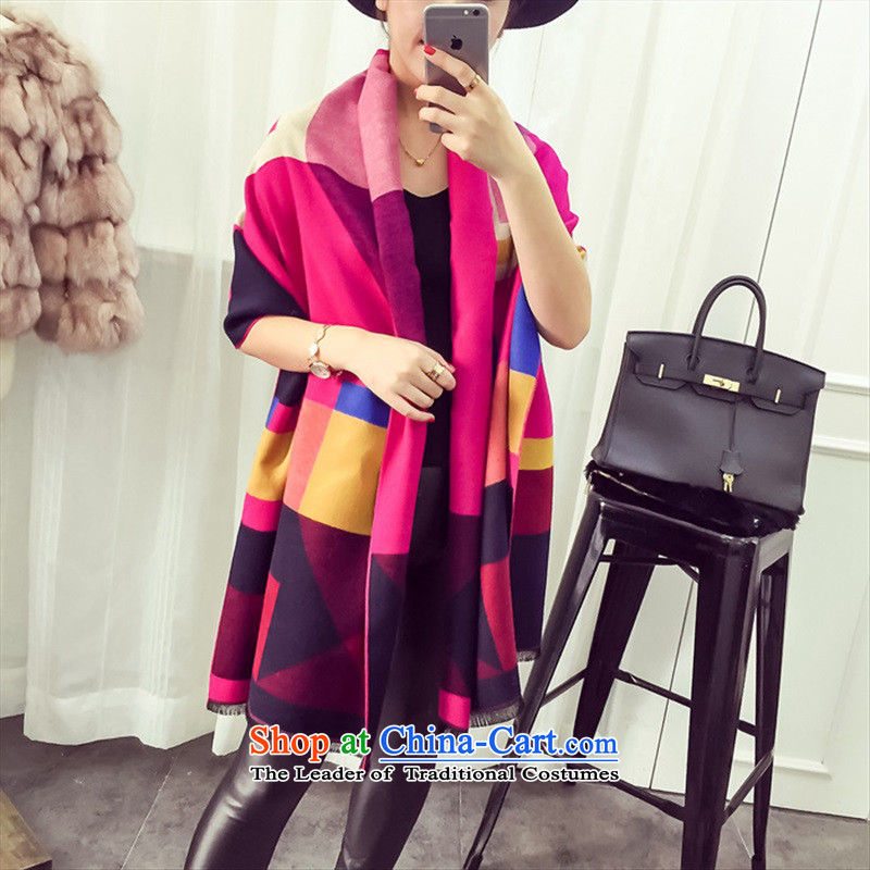 New Korea big latticed Ms. warm pashmina shawl two spring and autumn with long, thick winter in red shop owners recommended MOHAIR