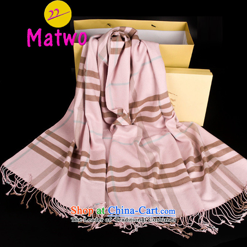 English Classic Grid matwo scarf stars of the same Cashmere wool increase long thick scarf air-conditioning shawl Pink